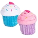 Cupcake Plush Toy with Squeaker - Purple or Blue - CUPCAKETOY
