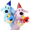 "Happy Birthday Loofa Dog 12"" with Squeaker - Pink or Blue"